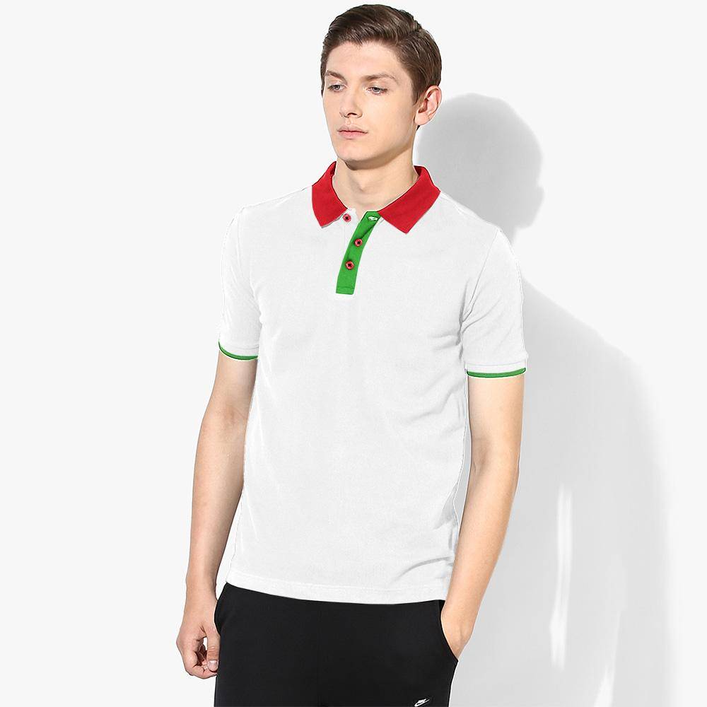 IMG Men's Bourges Contrast Collar Polo Shirt Men's Polo Shirt Image White XS