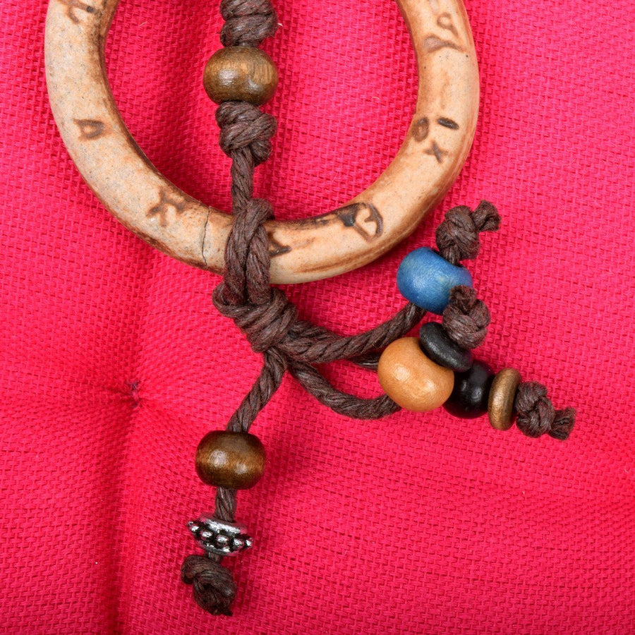 Fashion Stone Hand Made Menakaree WoodenNecklace - ExportLeftovers.com