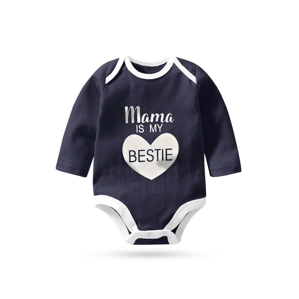 Polo Republica Mama Is My Bestie Pique Baby Romper