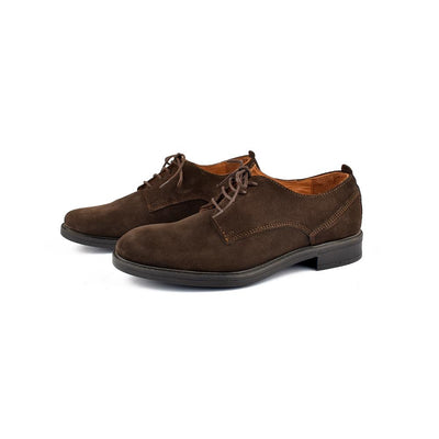 Unit Lace Up Style Suede Leather Shoes Men's Shoes MB Traders Brown EUR 40