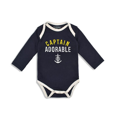 Polo Republica Captain Thermal Lined Baby Romper Babywear Polo Republica Navy White 0-3 Months