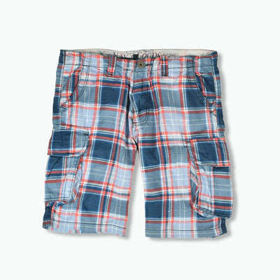 ONG 1948 Check Design Cargo Shorts Men's Shorts First Choice 30 20