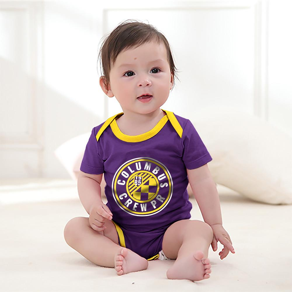 Polo Republica Columbus Crew Baby Romper Babywear Polo Republica Purple Yellow 0-3 Months