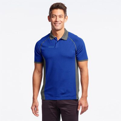 UTC Short Sleeve Selayang Contrast Panel Polo Shirt Men's Polo Shirt Image Royal Graphite M