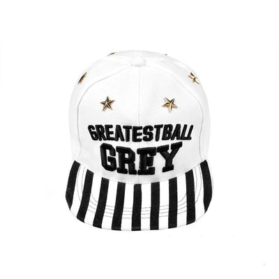 MB Greatest Ball Grey Baseball Cap Headwear MB Traders White