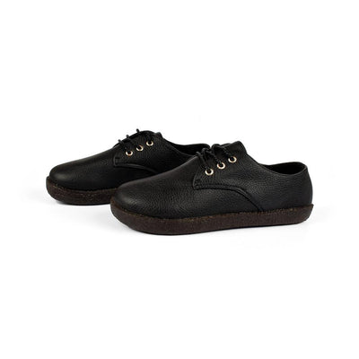 YY&CC Women's PU Leather Lace Up Shoes Women's Shoes Sunshine China Black EUR 35