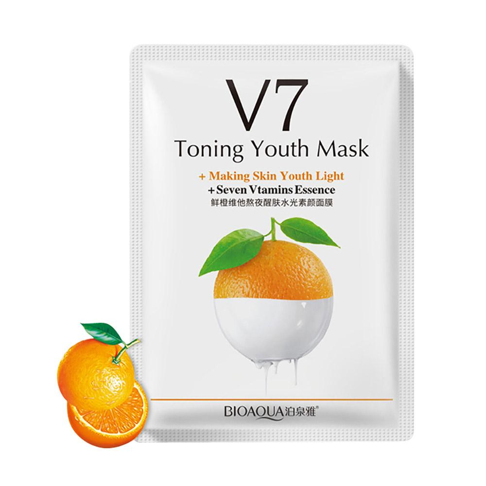 V7 Toning Youth Vitamins Essence Face Mask Health & Beauty Sunshine China Orange