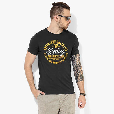 TT Adventure Unlimited Tee Shirt Men's Tee Shirt Fiza Black XS