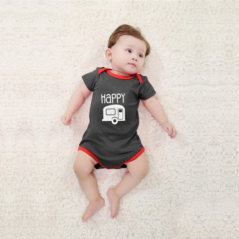 Polo Republica Happy Baby Romper Babywear Polo Republica Charcoal Red 0-3 Months