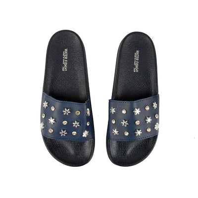 Water Fish Silnate Stones Upper Slippers Women's Shoes Hpral Navy EUR 35