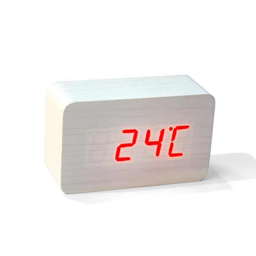 Bamboo Finish Huelva Voice Controlled Digital Clock