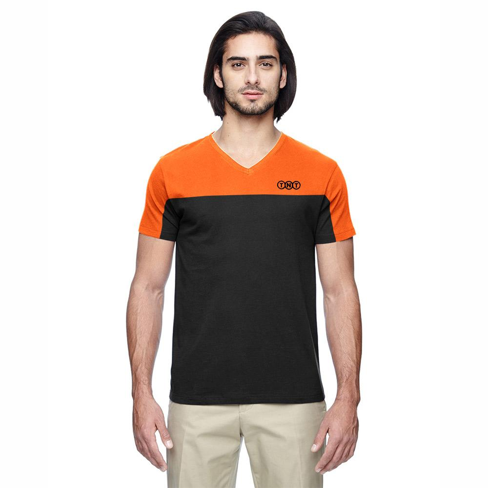 TNT Semarang Short Sleeve V Neck Tee Shirt