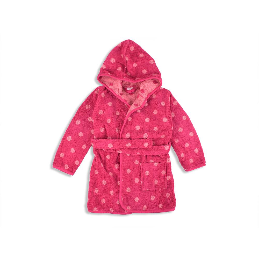 Edredte Kids Dotted Design Hooded Bathrobe Bathrobe First Choice 4 Years