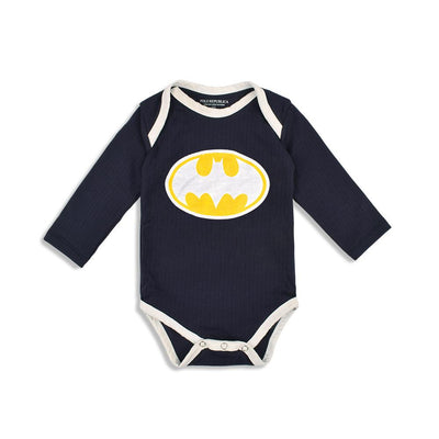 Polo Republica Batman Long Sleeve Thermal Lined Baby Romper Babywear Polo Republica 0-3 Months