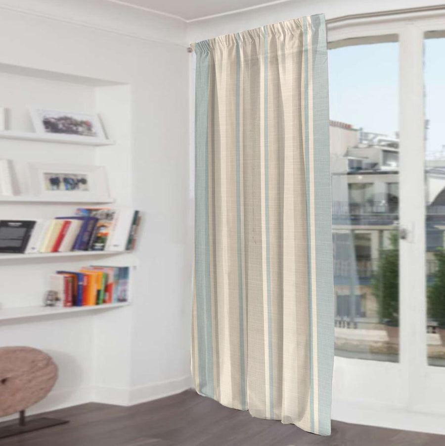 Falling Stripes One Piece Pocket Curtain