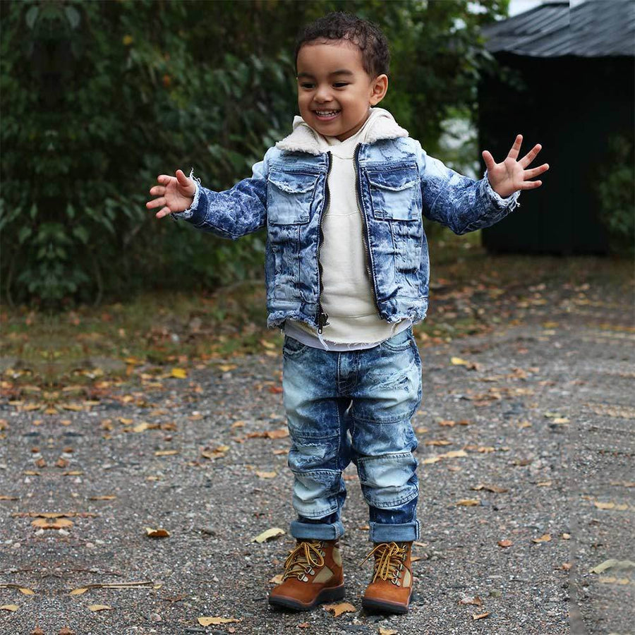JC Rouen Kid's Fur Denim Jacket