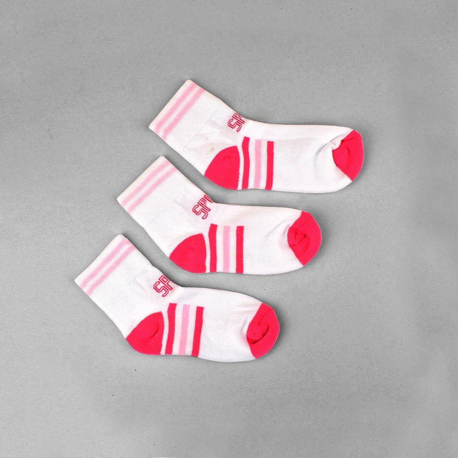 Kid's 3 Pairs Colorful Cushion Sole Anklet Socks