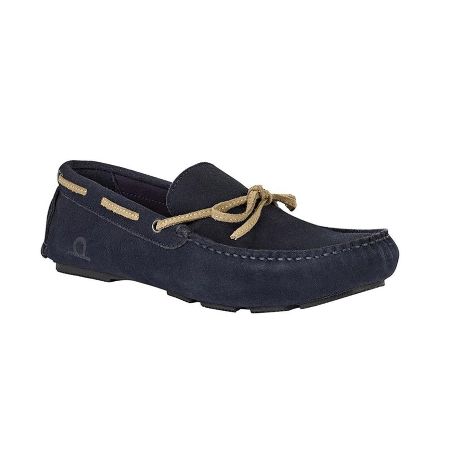 CHATHAM Riley II Men's Navy Suede Moccasin Driving Shoes