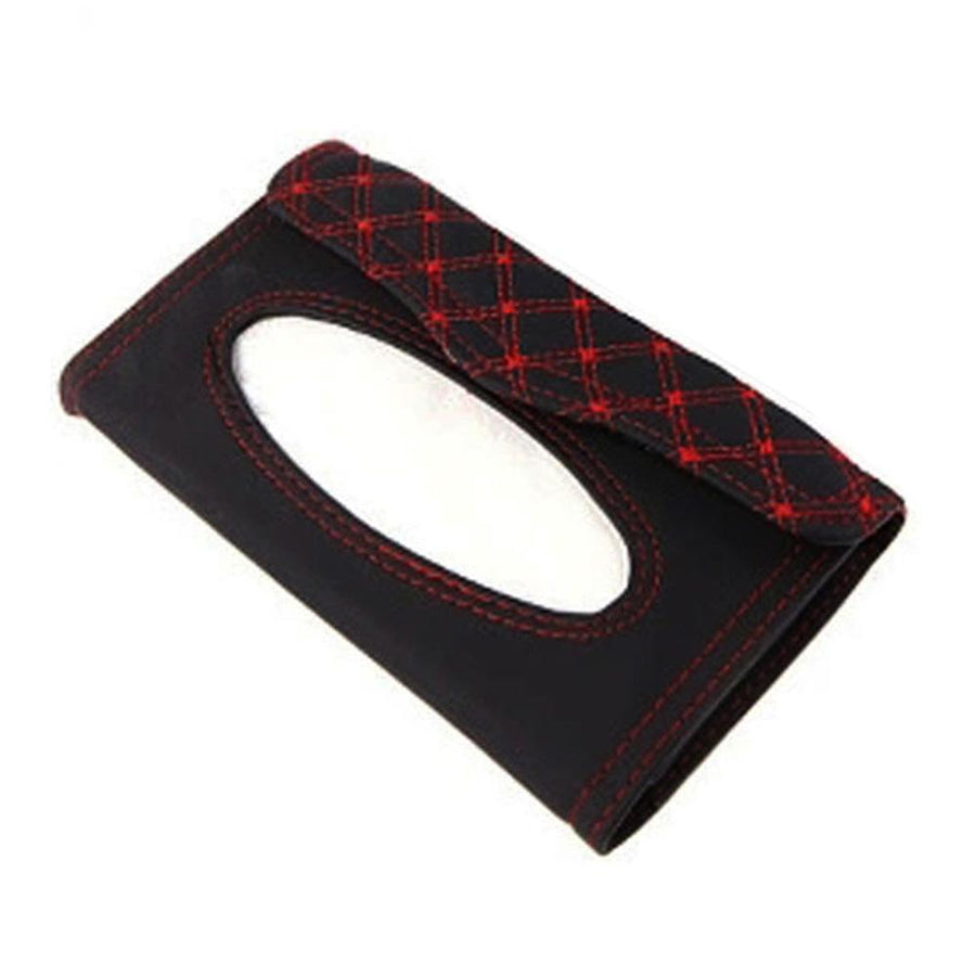Red Wine Tissue Case Cover For Car Sun Visor