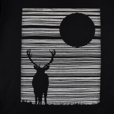 LE Night Deer Tee Shirt Men's Tee Shirt Image