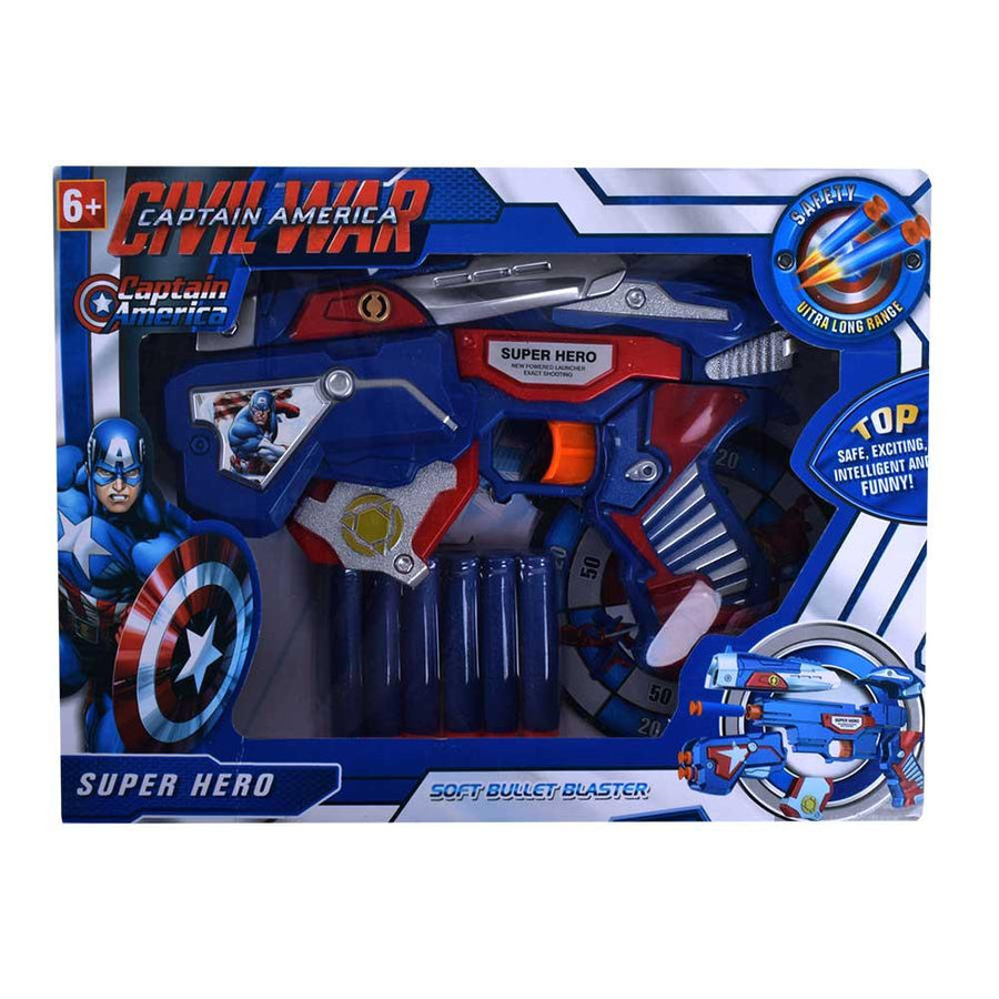 Civil war Captain America Soft Bullet Blaster - ExportLeftovers.com