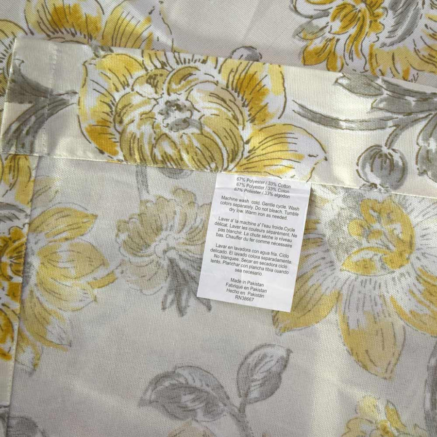 Flora Printed One Piece Pocket Curtain