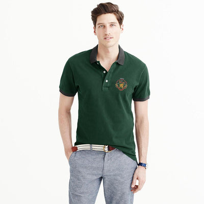 Polo Republica Players Society Short Sleeve Polo Shirt Men's Polo Shirt Polo Republica Bottle Green Grey L