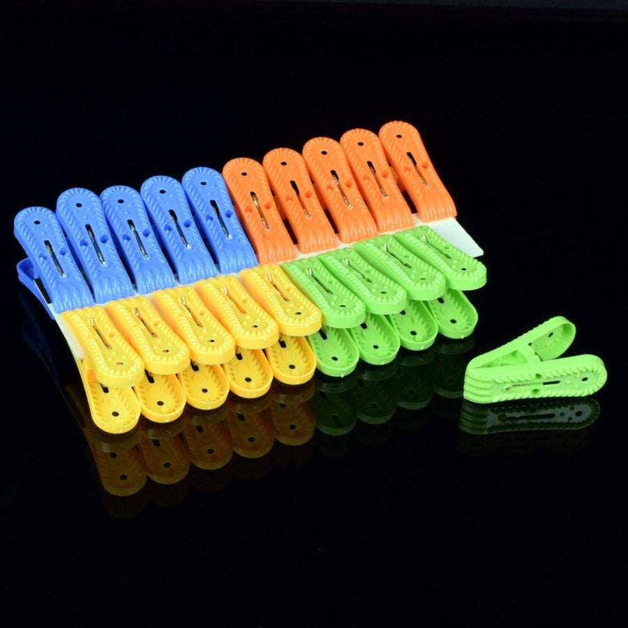 Clothes Drying Pack of 20 Rope Clips - ExportLeftovers.com