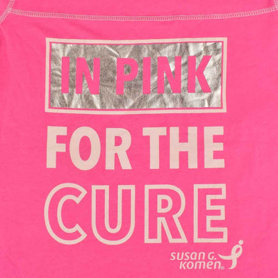 SNM Women's In Pink For The Cure V Neck Tee Shirt Women's Tee Shirt First Choice