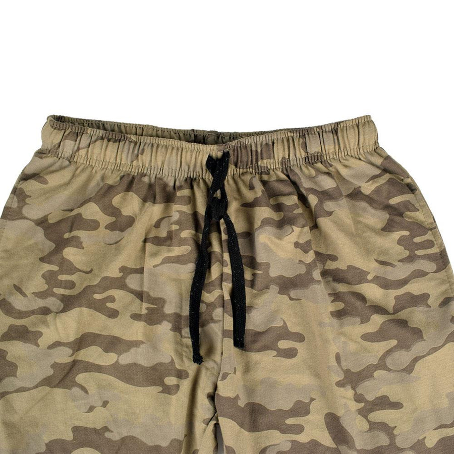 HLY Active Wear Men's Army Camo Terry Jogger Pants