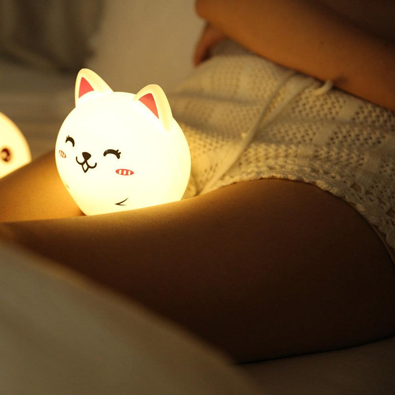 Cute Rabbit Silicone Color Changing Lamp Electronics Sunshine China