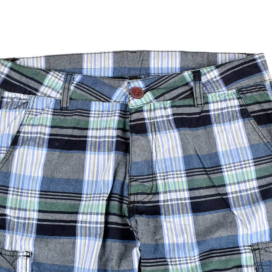 OEW Check Design Cotton Cargo Shorts
