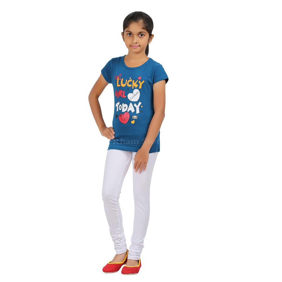 Sunny Elegance Interlock  Girls Stretch Leggings