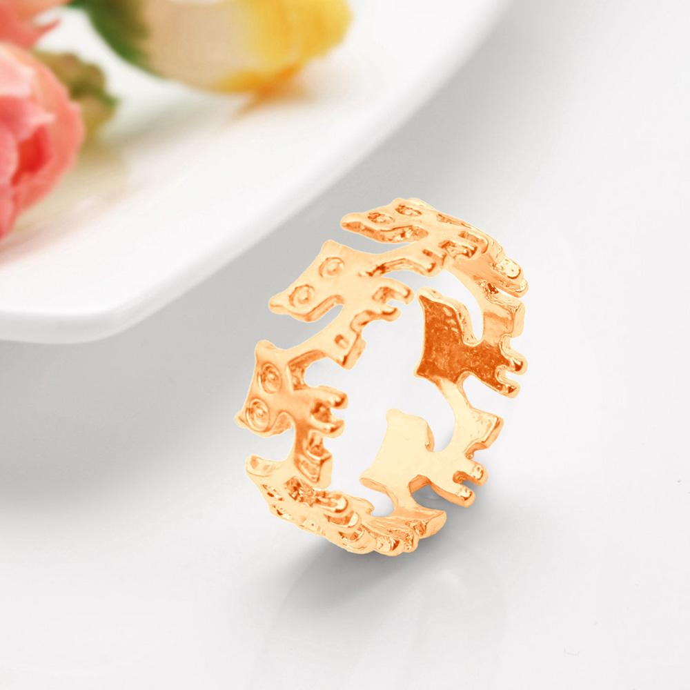 Sterling Gold Cat Ring