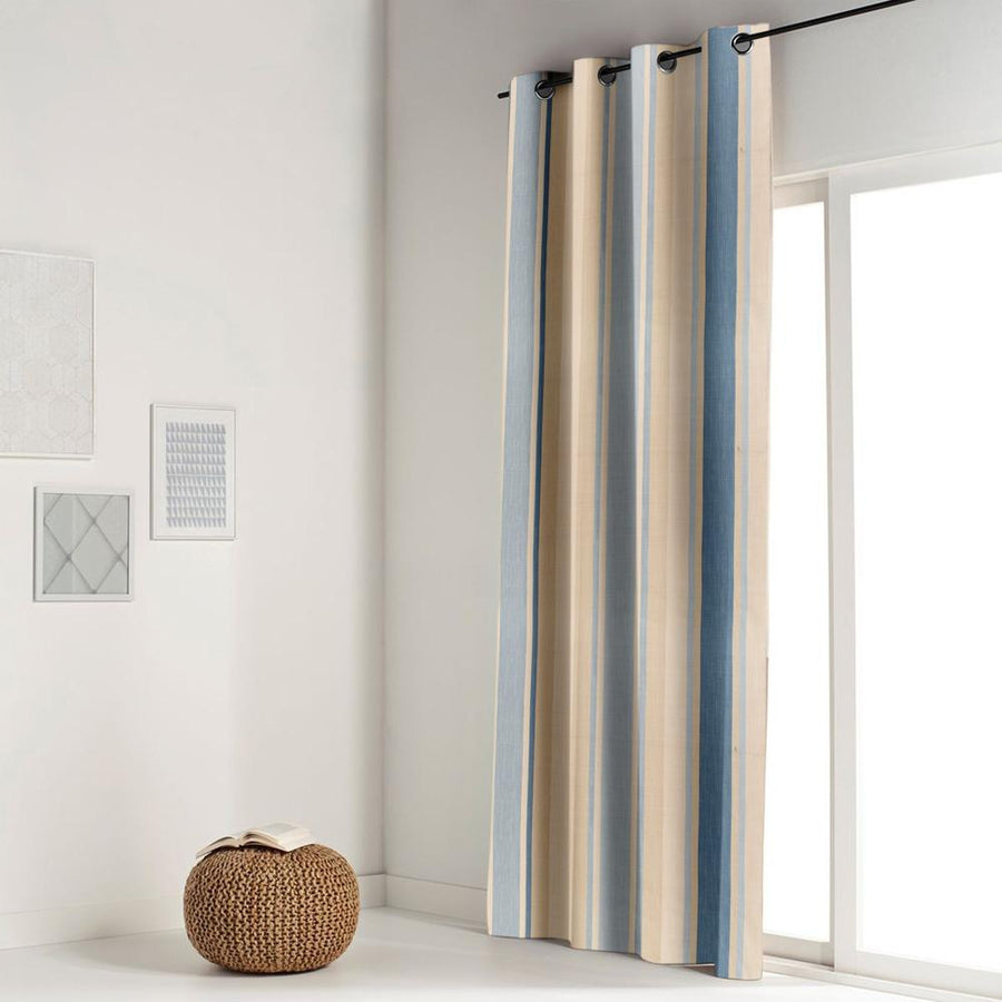Brixon Lines One Piece Eyelet Curtain