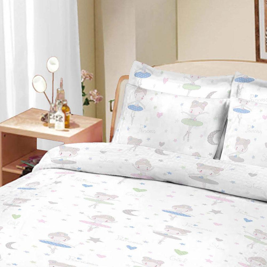 ARC Stary Oskol Printed Double Bed Sheet Set