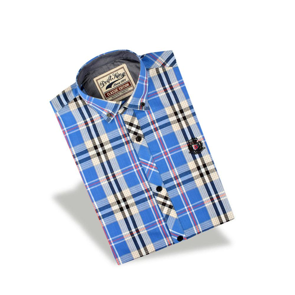 AHE Miass Check Design Casual Shirt Men's Casual Shirt AHE Blue M