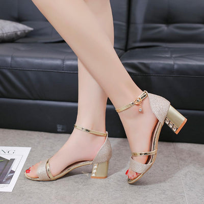 Xin Chao Chin Glittering Open Toe Sandals Women's Shoes Sunshine China