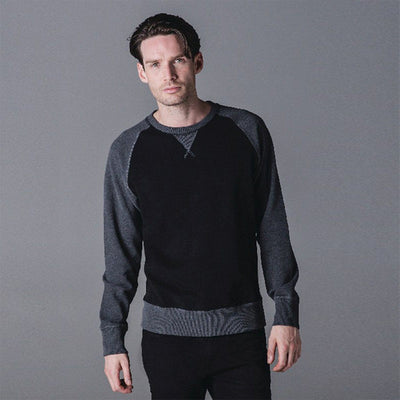MTS Jockle Raglan Sleeve Sweat Shirt Men's Sweat Shirt Image Black S