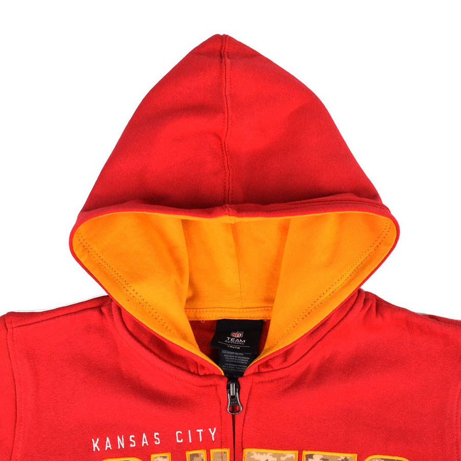 NFL Kansas City Chiefs Boy's Zipper Hoodie