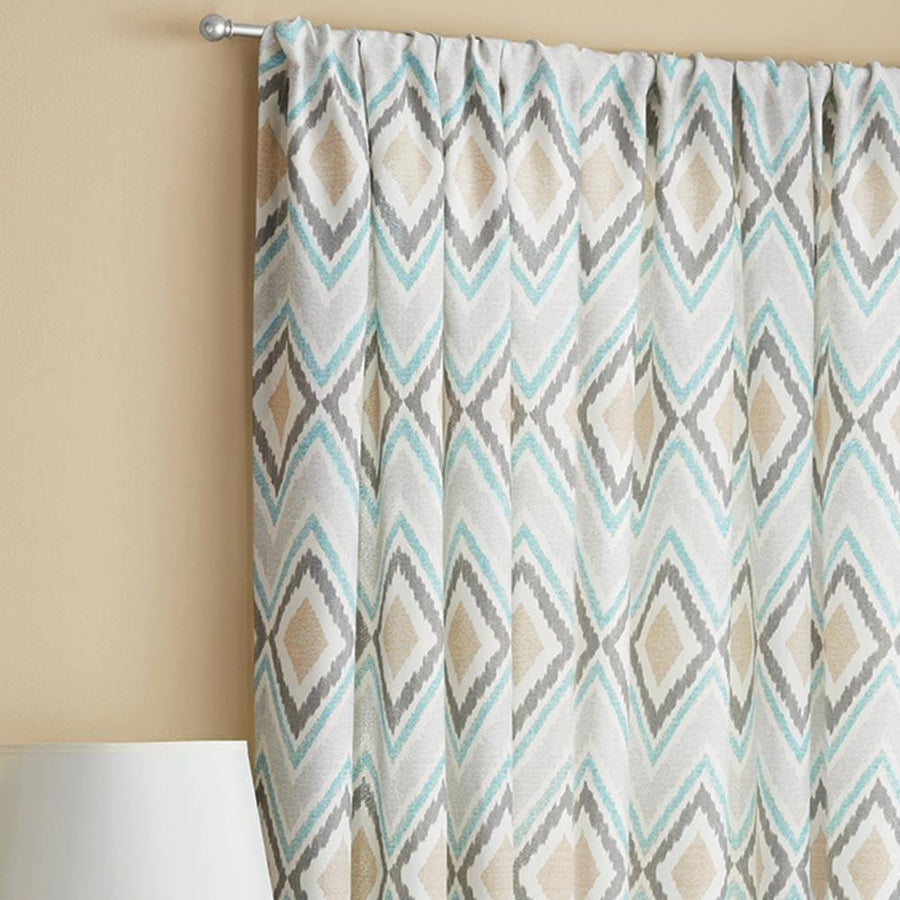 Kuhlmann Lattice Geometric One Piece Pocket Curtain