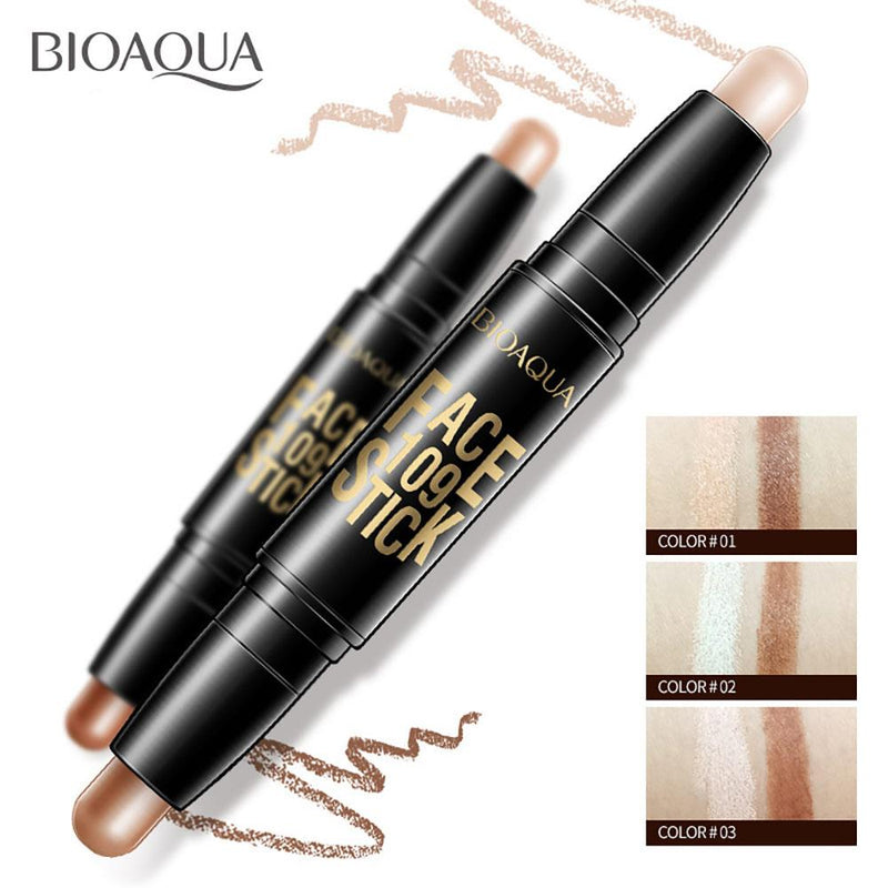BIOAQUA Face 109 Stick Contour Duo 2 in 1 Highlighter Pencil Health & Beauty Sunshine China