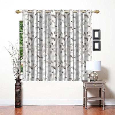 Little Home Black N White Animal Printed One Piece Pocket Curtain Curtain MB Traders W-66 x L-72 Inches