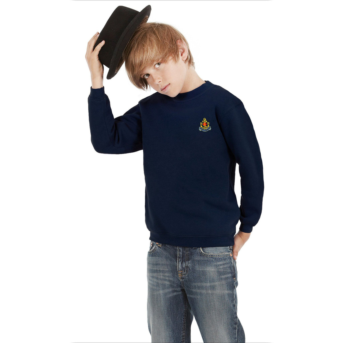 BB Alproso Sweat Shirt Boy's Sweat Shirt Image Navy 9-10 Years(30)
