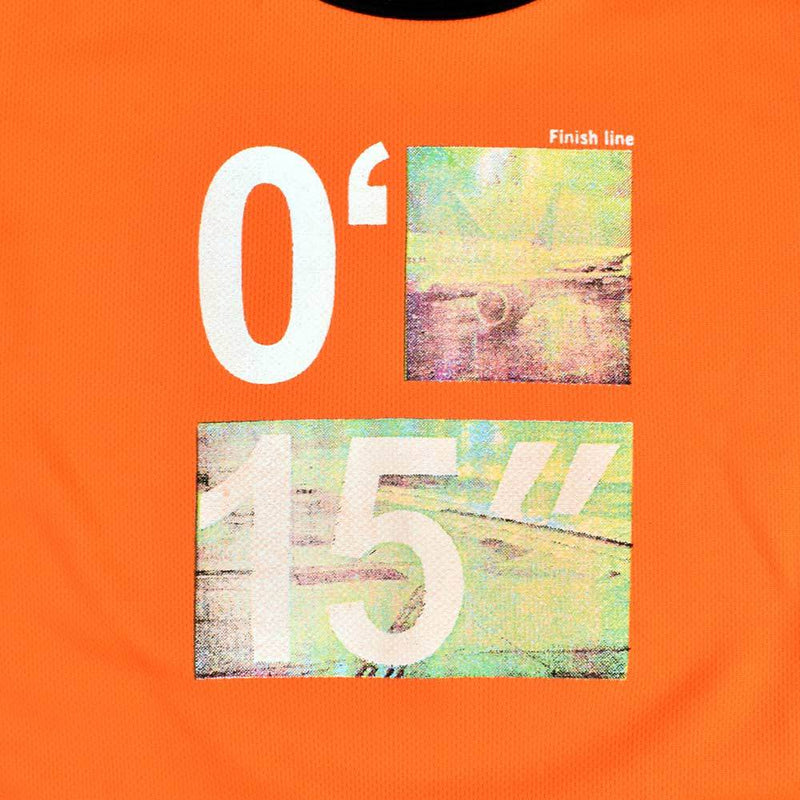 Polo Republica Finish Line Ringer Tee Shirt Boy's Tee Shirt Polo Republica Orange 2 Years