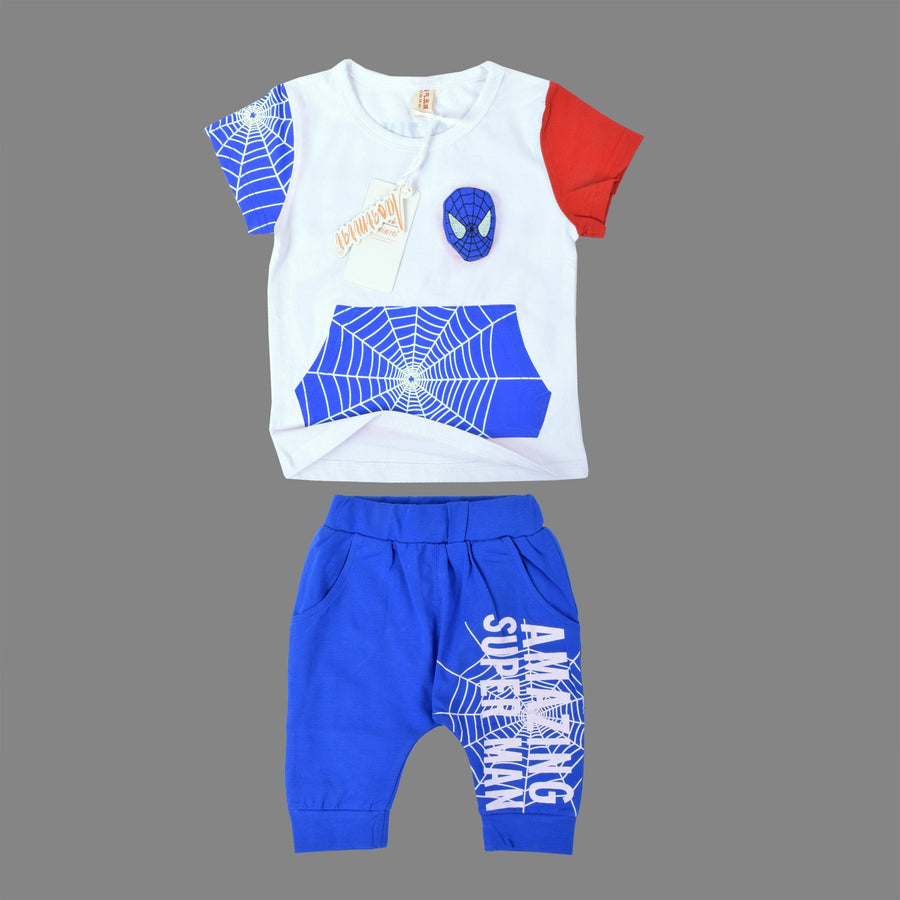 Spiderman Tee with Trouser Set - ExportLeftovers.com