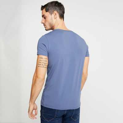 TMH Men's Classic V-Neck Tee Shirt Men's Tee Shirt Fiza