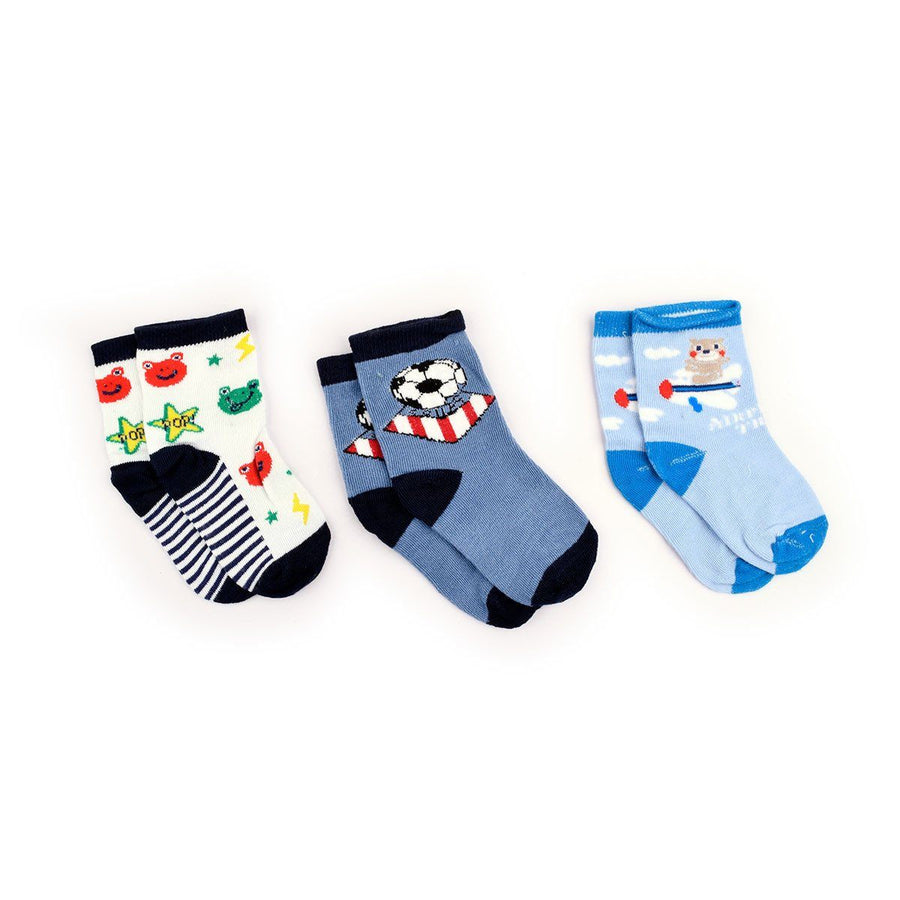 WNH Sanling 3 Pairs Assorted Socks