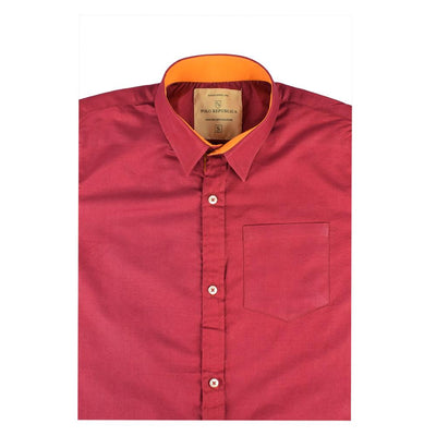 Polo Republica Pachino Solid Color Casual Shirt Men's Casual Shirt RDS Burgundy S