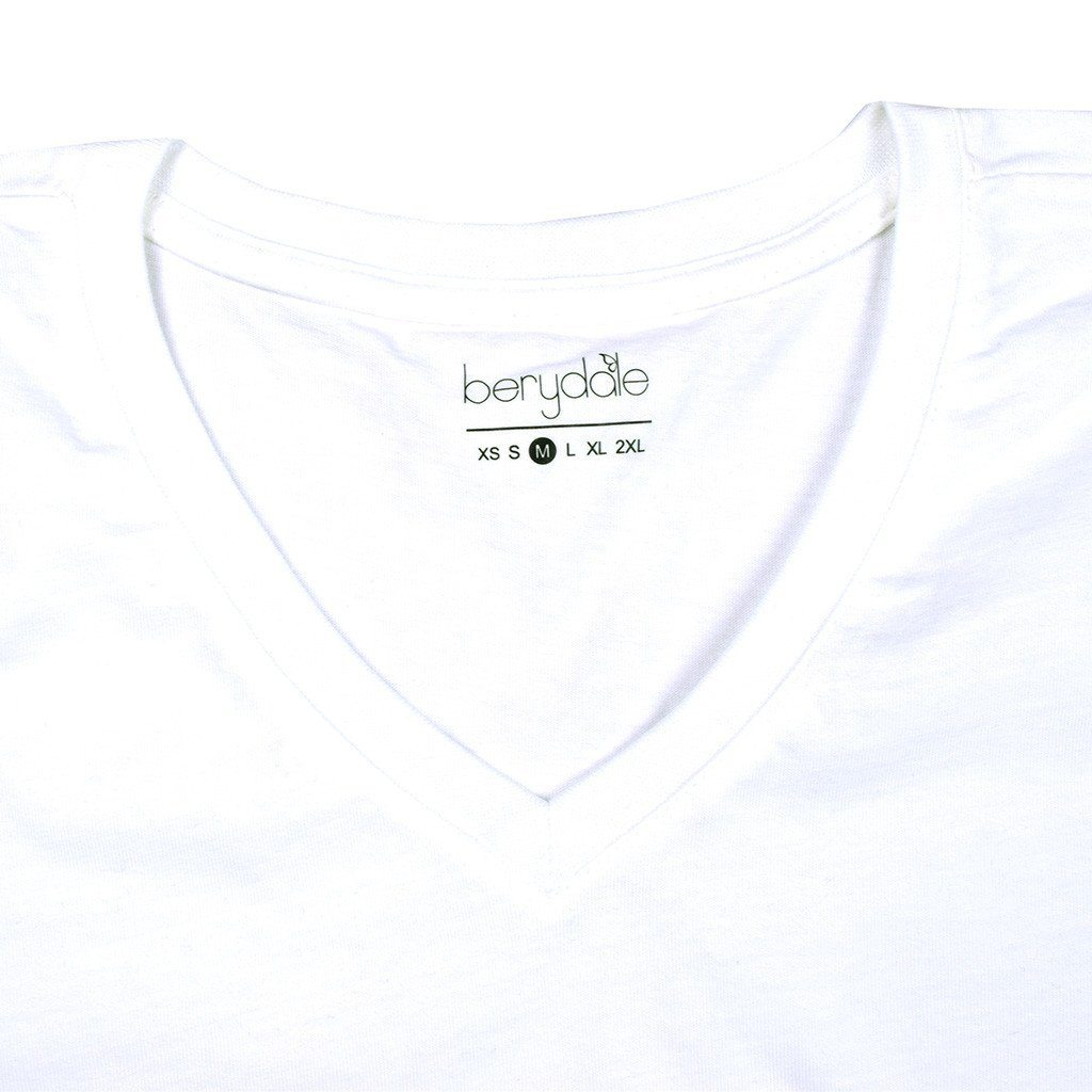 BYD Manty Short Sleeve V-Neck Tee Shirt Women's Tee Shirt Image White 2XL